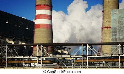 plante, hiver, puissance, coal-burning