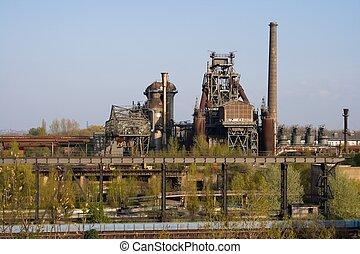 plante, industriel, abandonnés