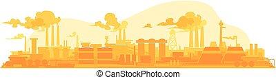 plante, industriel, fond