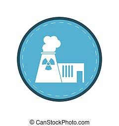 plante, magt, atomenergien, cirkel, tårn