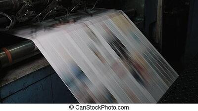 plante, maison, impression, machine, factory., impression, imprimé, journal, plant.