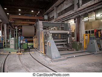 plante, -, moulin, papier, usine, pulpe