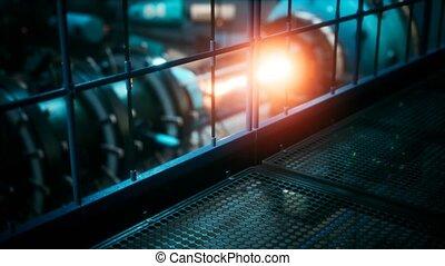 plante, ou, cyberpunk, futuriste, puissance, réacteur, ...