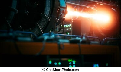 plante, puissance, cyberpunk, futuriste, réacteur, ...