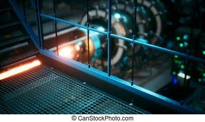 plante, réacteur nucléaire, ou, puissance, cyberpunk, ...