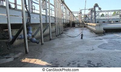 plante, recyclage, equipment., traitement eau, gaspillage, eaux égout