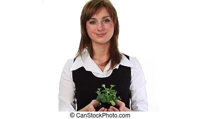 plante, tenue femme