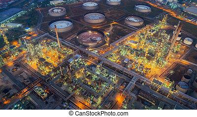 plante, terre, oeil, nuit, raffinerie, huile, scape, oiseau, vue