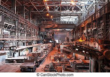 plante, værksted, metallurgical