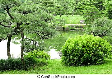 Pierre ext rieur jardin zen lanterne japonaise pierre for Plante verte japonaise