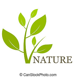 plante vert feuille illustration vecteur vert naturel icon. Black Bedroom Furniture Sets. Home Design Ideas