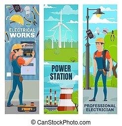 planten, energie, elektrisch, techniek, macht