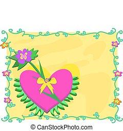 planten, groot, frame, kleurrijke