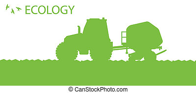 planter, concept, organique, récoltes, affiche, champ, ...