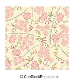 planterar, mönster, japansk