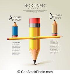 plantilla, educación, infographic, diseño