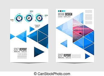 plantilla, empresa / negocio, o, diseño, cubierta, folleto, ...