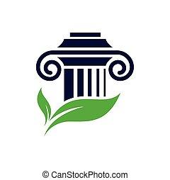 plantilla, firma, justicia, pilar, ley, logotipo, diseño