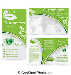 plantilla, folleto, vector, diseño, disposición
