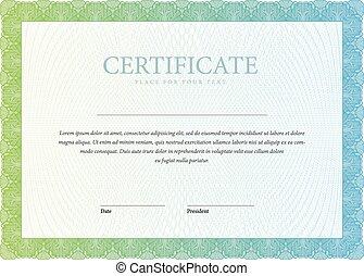 plantilla, horizontal, certificado, y, diplomas.