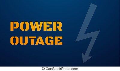 plantilla, illustration., potencia, texto, outage, amarillo