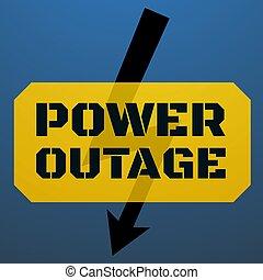 plantilla, illustration., potencia, texto, outage, negro