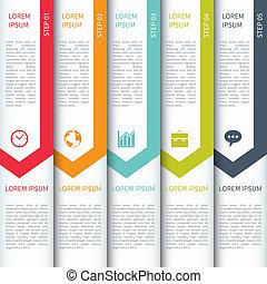 plantilla, infographics, moderno, minimalistic, multicolor