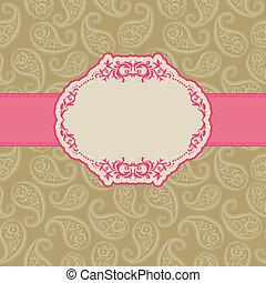 plantilla, marco, diseño, para, tarjeta de felicitación, .