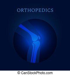 plantilla, radiografía, ortopedia, médico, vector, coyuntura...