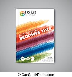 plantilla, resumen, moderno, folleto, vector, diseño