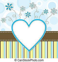 plantilla, tarjeta de felicitación, vector