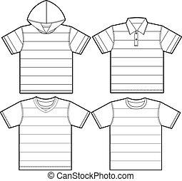 plantillas, camiseta