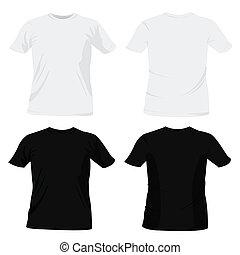 plantillas, camiseta, diseño
