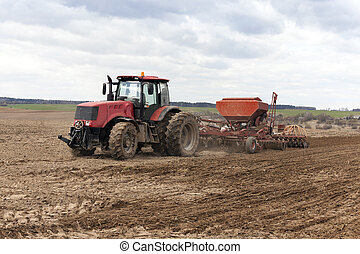 Planting of cereal crops