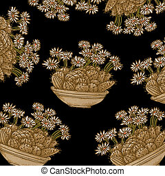 plants and flowers for paper, pattern, fabric, repeating pattern