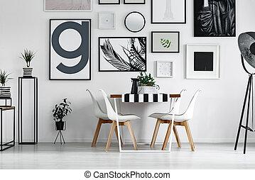 Plants and jug on table