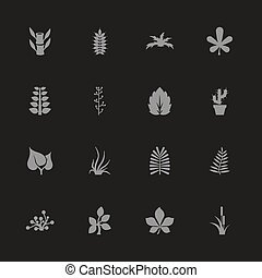 Plants - Flat Vector Icons