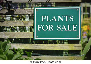 Plants for sale sign