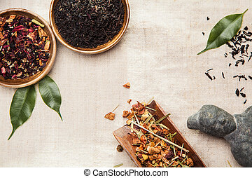 Plants, symbol of traditional Chinese medicine - Close-up of...
