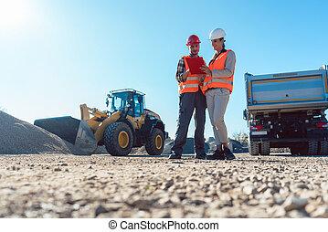 planung, baugewerbe, ingenieur, arbeiter, earthworks, standort