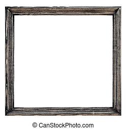 plaqué, bois, blanc, image, vendange, fond, cadre