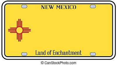 plaque, état, mexique, licence, nouveau