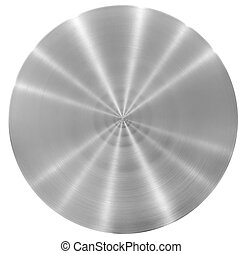 plaque, aluminium, métal, rond, disque, ou