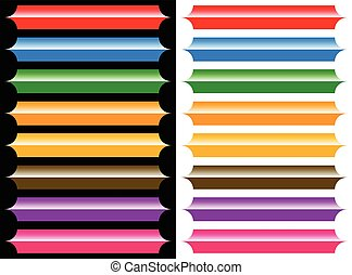Plaque, banner or button backgrounds with glossy highlight effect