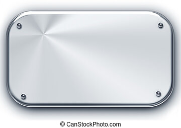 Brushed steel background isolated on white. Copy space