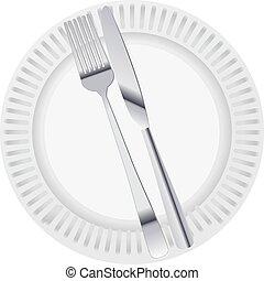 plaque, dîner