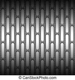 plaque, ensemble, gris, métal, maille, fibre, 8, carbone, blanc