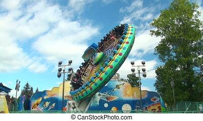 plaque, extrême, carrousel, attraction