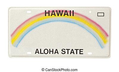 plaque, hawaï, licence