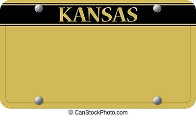 plaque, kansas, licence